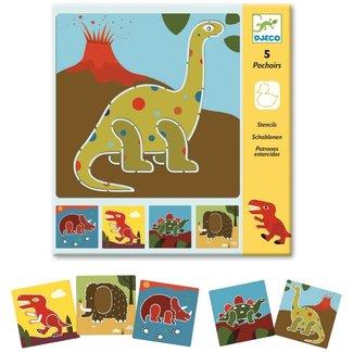 Djeco Djeco - Set of Stencils, Dinosaurs