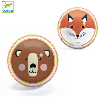 Djeco Djeco - Double-Faced Ball 22 cm, Bear and Fox