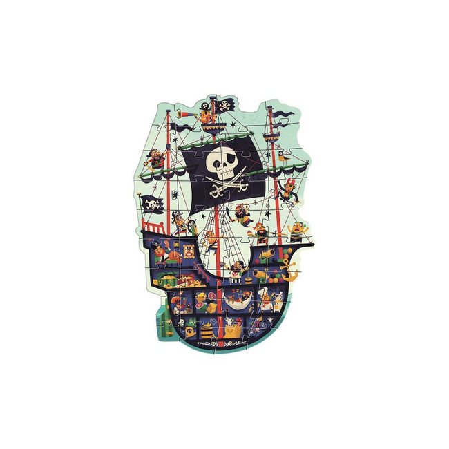 Djeco Djeco - Casse-tête Géant, Le Bateau des Pirates