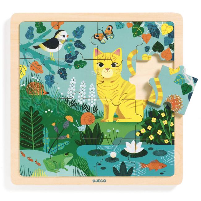 Djeco Djeco - Puzzlo Wooden Puzzle, Lily
