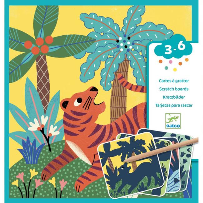 Djeco Djeco - Scratch Cards, Wild Creatures