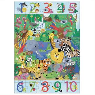 Djeco Djeco - Giant Puzzle 1 to 10, Jungle