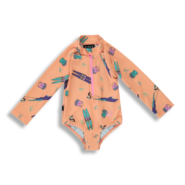 Birdz Children & Co Birdz - Surfer Swimsuit, Water Ski Orange