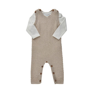 Fixoni Fixoni - Body and Knit Romper Set, Tan