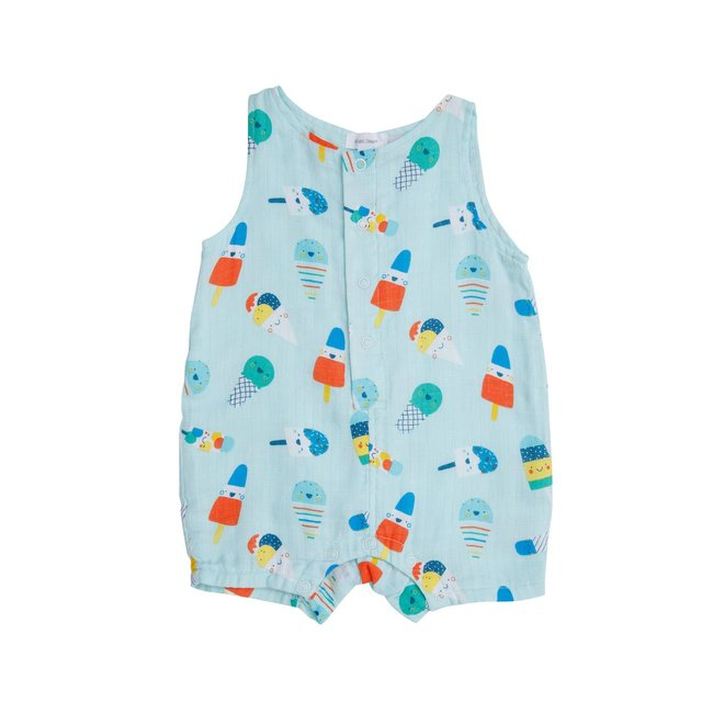 Angel Dear Angel Dear - Muslin Shortie Romper, Popsicles
