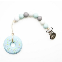 Loulou Lollipop *Jouet de Dentition Beigne Bleu de Loulou Lollipop/Loulou Lollipop Blue Donut Teether, Bleu et Gris/Blue Grey