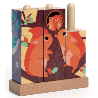 Djeco Djeco - Puz-Up Wooden Puzzle, The Forest