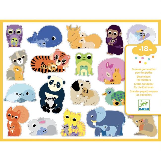 Djeco Djeco - Large Stickers, Baby Animals