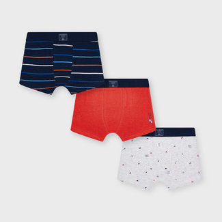 Mayoral Mayoral - Set of 3 Boxers, Cyber Red