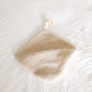 sprouting littles Sprouting Littles - Faux Shearling Lovey, Cream