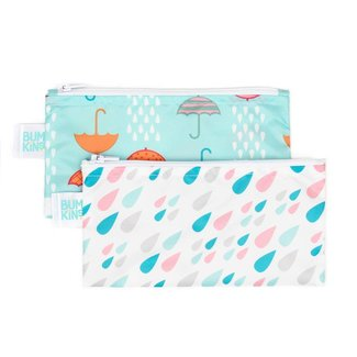 Bumkins Bumkins - Reusable Snack Bag 2 Pk, Raindrops