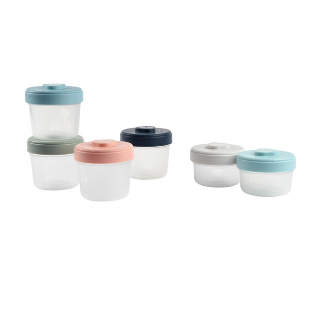 Béaba Beaba - Set of 6 Clip Portions 2 Sizes, Multicolour