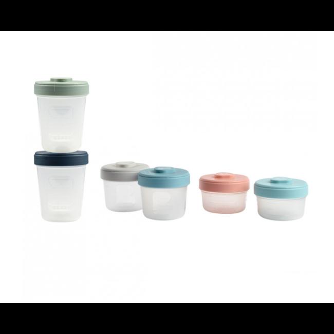 Béaba Beaba - Set of 6 Clip Portions 3 Sizes, Multicolour