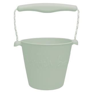 Scrunch Bucket Scrunch Bucket - Seau avec Pelle en Silicone, Sauge