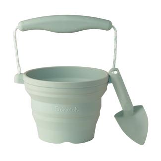 Scrunch Bucket Scrunch Bucket  - Silicone Seedling Pot and Trowel, Sage