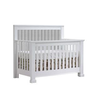 Natart Juvenile Natart Taylor - 5-in-1 Convertible Crib with Upholstered Panel, Grey Linen