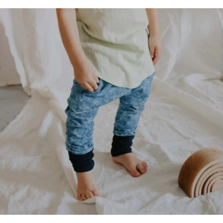 Little Yogi Little Yogi - Evolutive Pants, Washed Blue Jeggings