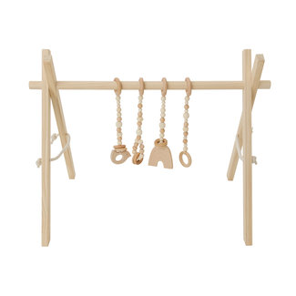 Poppyseed Play Poppyseed Play - Natural Pine Baby Gym, Natural Toys