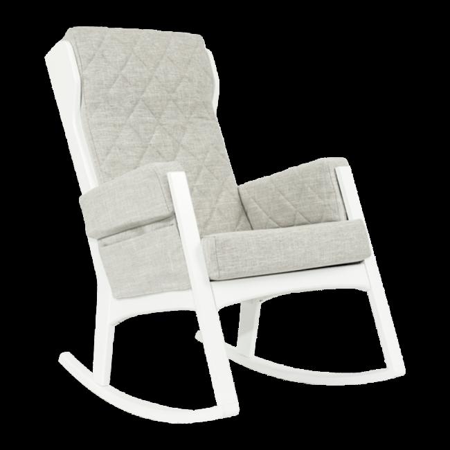 Dutailier Dutailier, Margot - Glider Chair, White Popular Grey, Stock Program