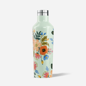 Rifle Paper Co. Rifle Paper Co. x Corckcicle - Bouteille Isotherme Fleurie, Menthe