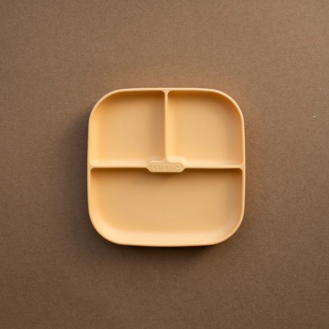 Minika Minika - Assiette de Silicone avec Succion, Coucher de Soleil