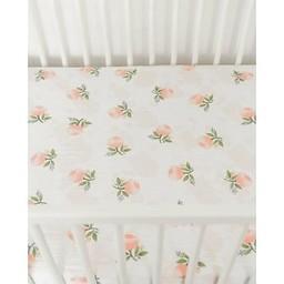 Little Unicorn Drap Contour en Coton Brossé de Little Unicorn/Little Unicorn Brushed Cotton Crib Sheet, Aquarelle Rose/Watercolor Rose