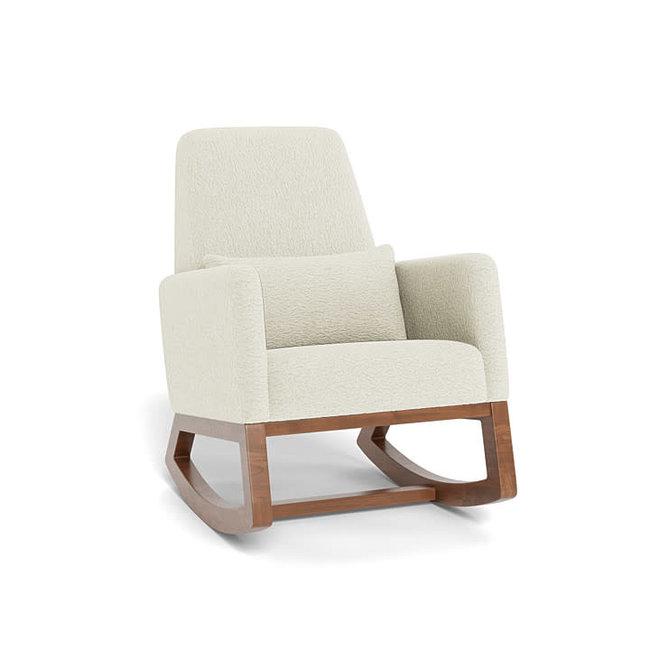 Monte Design Monte - Joya Rocking Chair, Natural Walnut Base, Faux Sheepskin