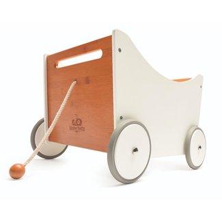 Kinderfeets Kinderfeets - Chariot à Tirer et Boîte à Jouets 2-en-1, Blanc