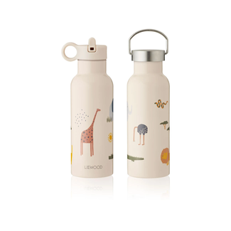 Liewood Liewood - Thermos Water Bottle with 2 Lids 500ml, Safari
