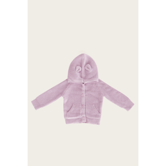 Jamie Kay Jamie Kay - Bear Hooded Cardigan, Lavender