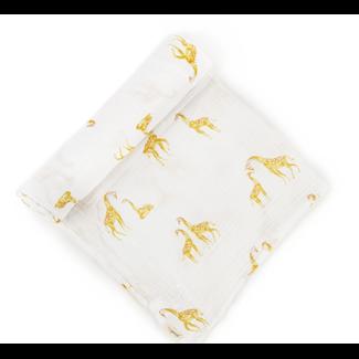 Pehr Pehr - Couverture en Coton Biologique, Suivez-Moi Girafe