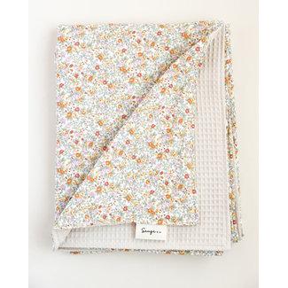 Sauge & Co Sauge & Co - Organic Cotton Blanket, Floral Bouquet