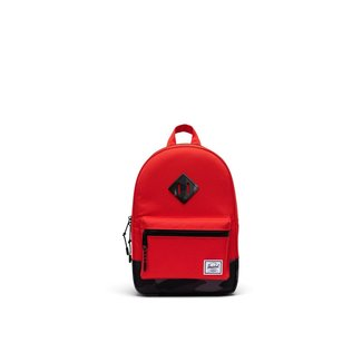 Herschel Herschel - Heritage Kids Backpack, Fiery Red and Black Camo