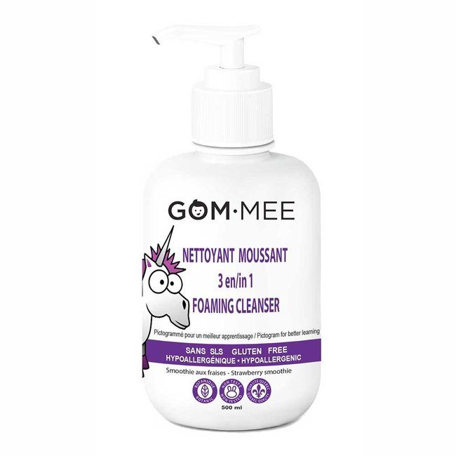 Gom.mee GOM.MEE - 3-in-1 Foaming Cleanser for Bath, Body, Hair, Strawberry Smoothie