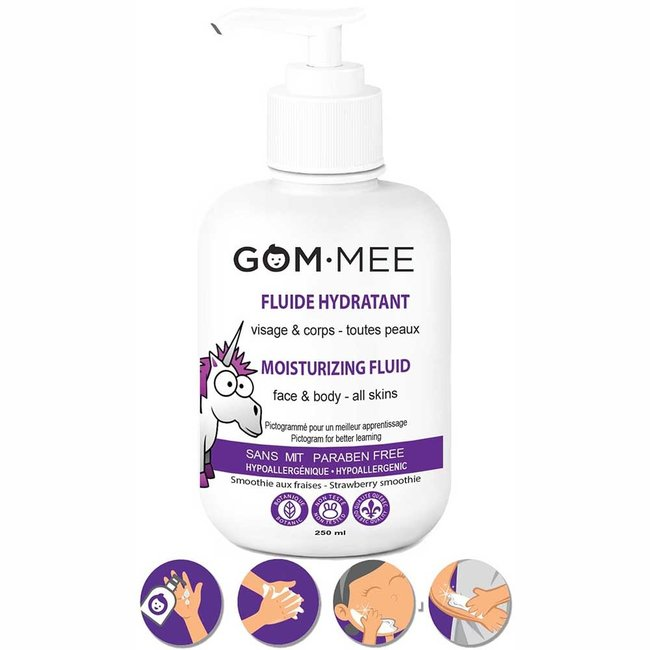 Gom.mee GOM.MEE - Moisturizing Fluid for Face and Body, Strawberry Smoothie
