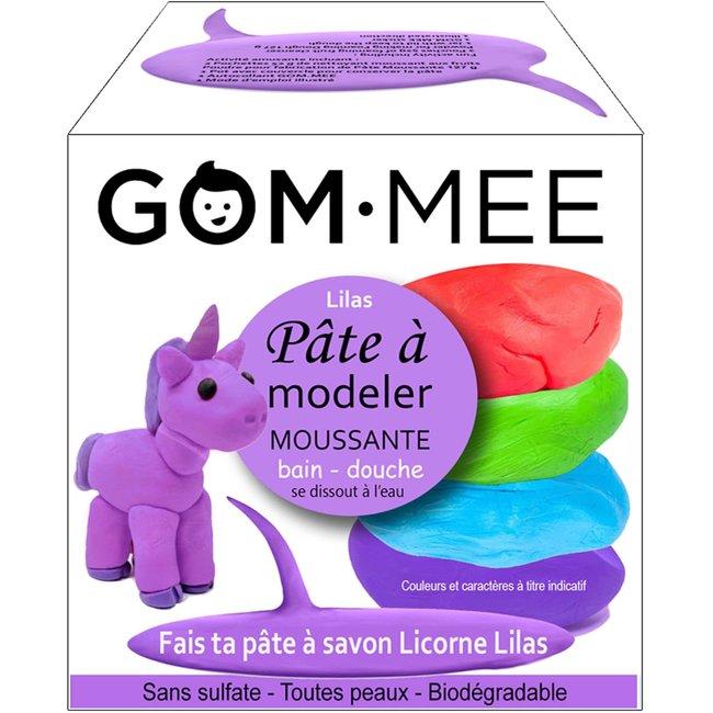 Gom.mee GOM.MEE - Foaming Modelling Clay for Bath, Lilac Unicorn