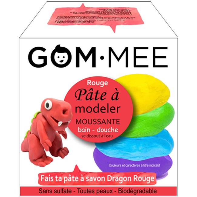 Gom.mee GOM.MEE - Foaming Modelling Clay for Bath, Red Dragon