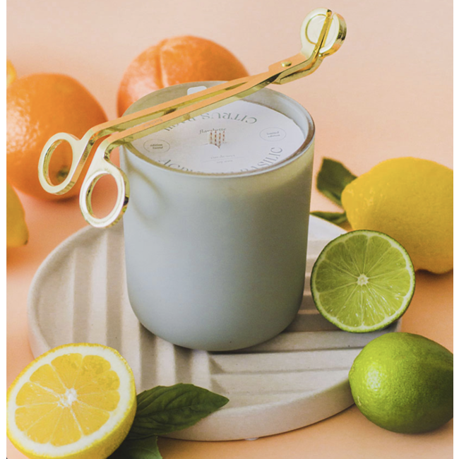 Flambette Flambette - 14oz Candle, Limited Edition Citrus and Basil