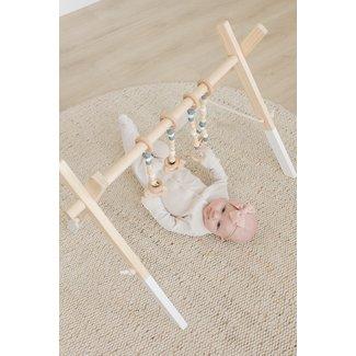 Poppyseed Play Poppyseed Play - White Pine Baby Gym, Grey Toys