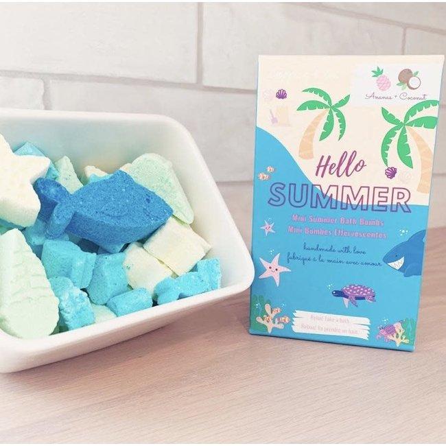 Caprice & Co Caprice & Co - Mini Vegan Bath Bombs, Hello Summer