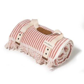 Business & Pleasure Co. Business & Pleasure Co - Lauren's Outdoor Blanket, Pink Stripes