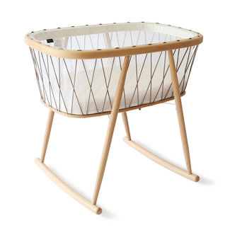 Charlie Crane Charlie Crane - Kumi Cocon Mesh Crib with Natural Coco Mattress, Hazelnut Laces