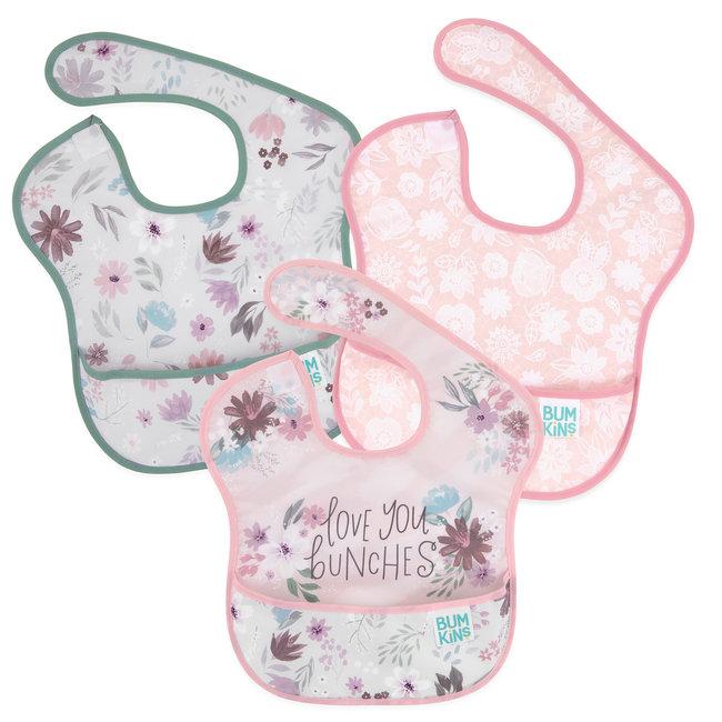 Bumkins Bumkins - Pack of 3 Superbib, Floral, Love You