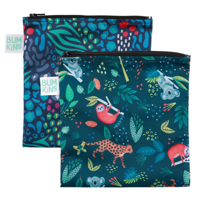 Bumkins Bumkins - Pack of 2 Reusable Large Bags,  All Together Now