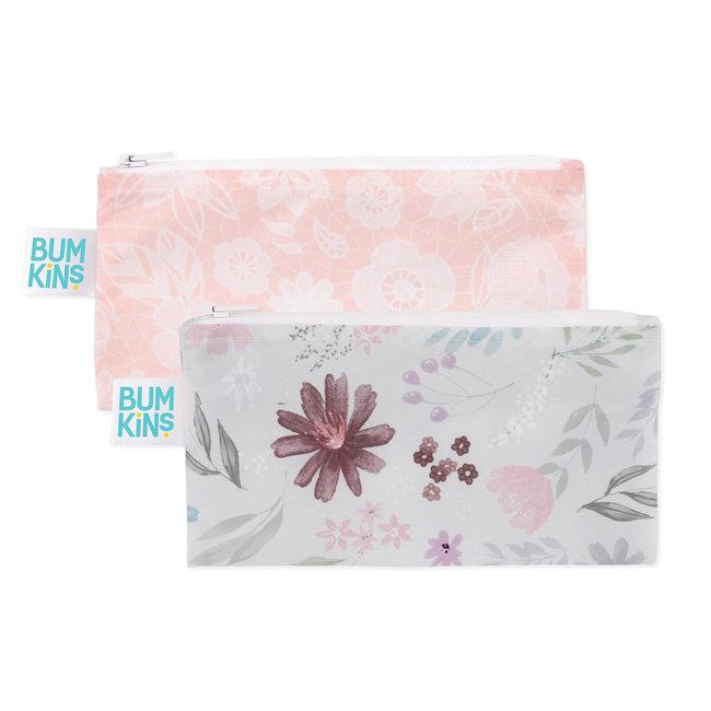 Bumkins Bumkins - Paquet de 2 Sacs à Collation Réutilisables,  Fleuri