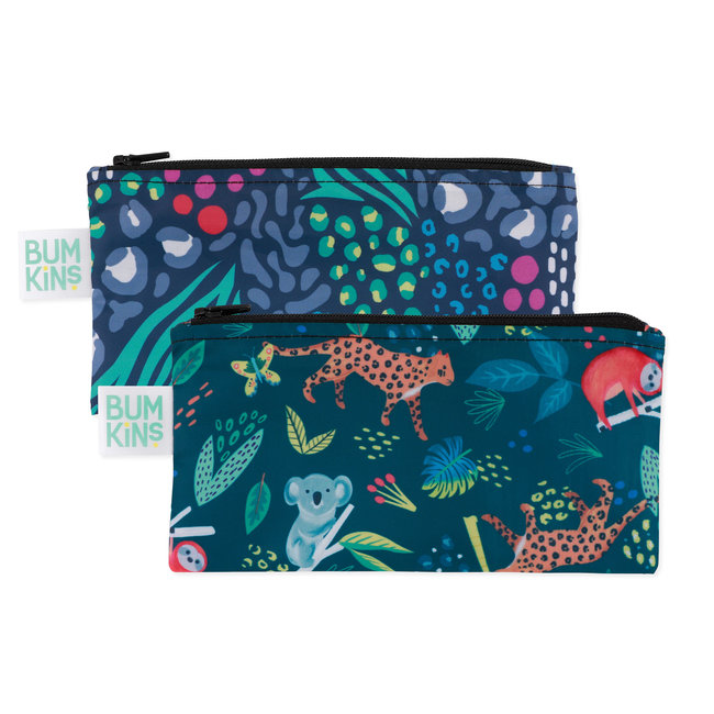 Bumkins Bumkins - Pack of 2 Reusable Snack Bags, All Together Now