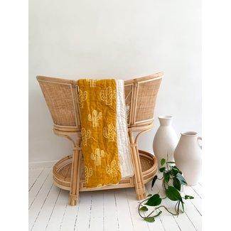 Seaka Boo Seaka Boo - Cotton Cot Quilt, Sandalwood Cactus