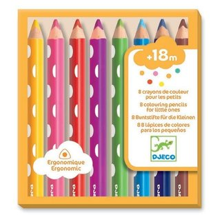 Djeco Djeco - Pack of 8 Colouring Pencils for Little Ones