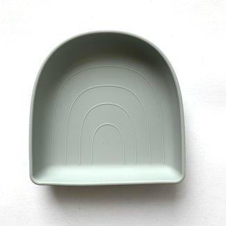 Little chew Little Chew - Rainbow Plate, Soft Sage