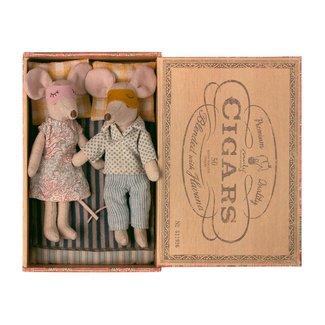Maileg Maileg - Papa et Maman Souris dans une Boîte de Cigares